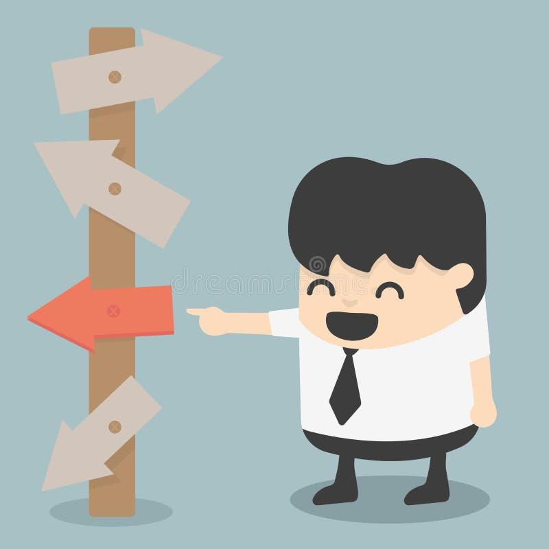 El hombre de negocios ve la salida fortuita stock de ilustración