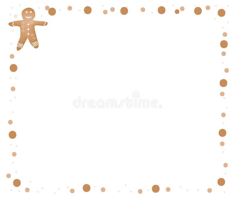 El hombre de pan de jengibre hecho en casa de la Navidad tradicional arrulla ilustración del vector
