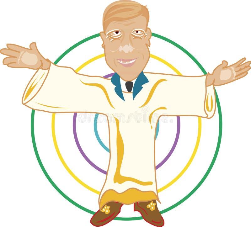El hombre de predicador ilustración del vector