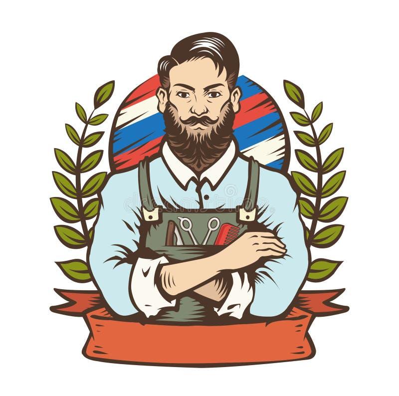 El hombre del peluquero ilustración del vector