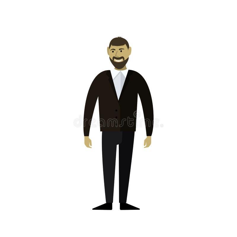 El hombre en el traje stock de ilustración