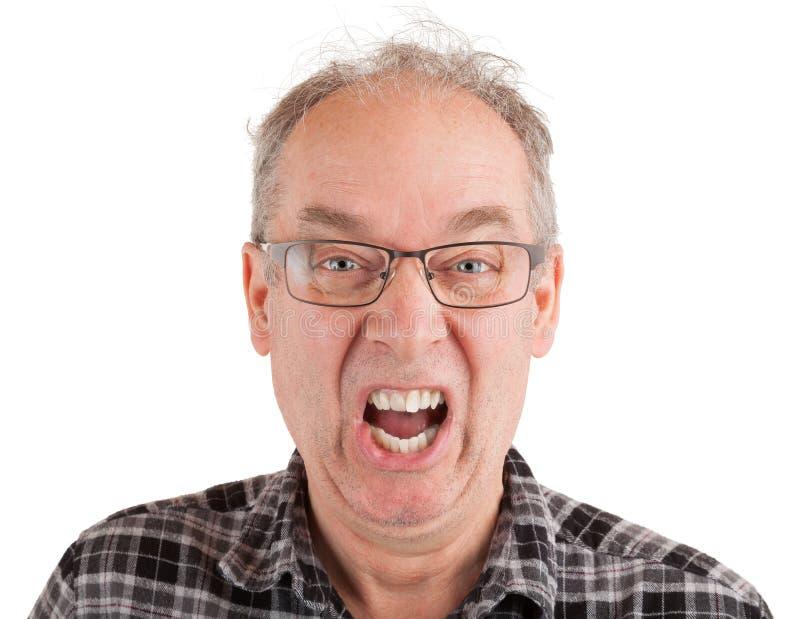 El hombre está gritando algo imágenes de archivo libres de regalías