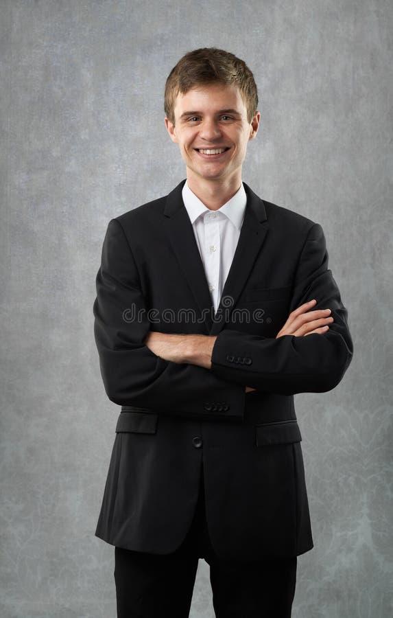 El hombre feliz está sonriendo imágenes de archivo libres de regalías