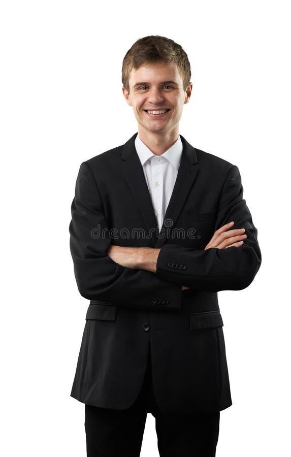 El hombre feliz está sonriendo foto de archivo libre de regalías