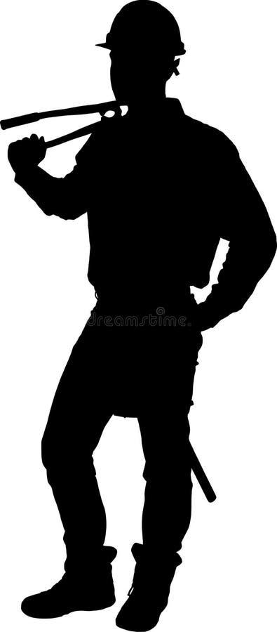 El hombre filetea la figura libre illustration