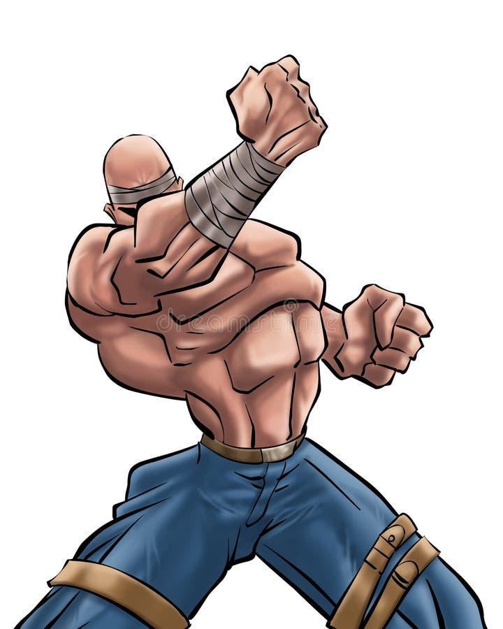 El hombre fuerte   ilustración del vector
