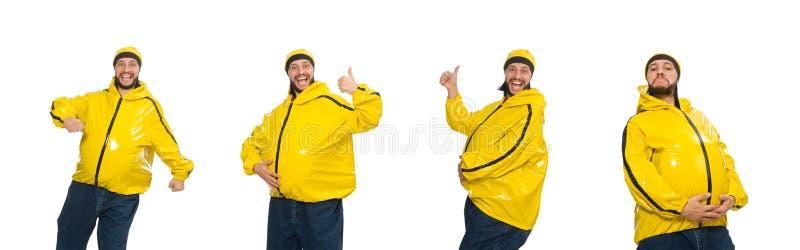 El hombre gordo aislado en el blanco foto de archivo libre de regalías