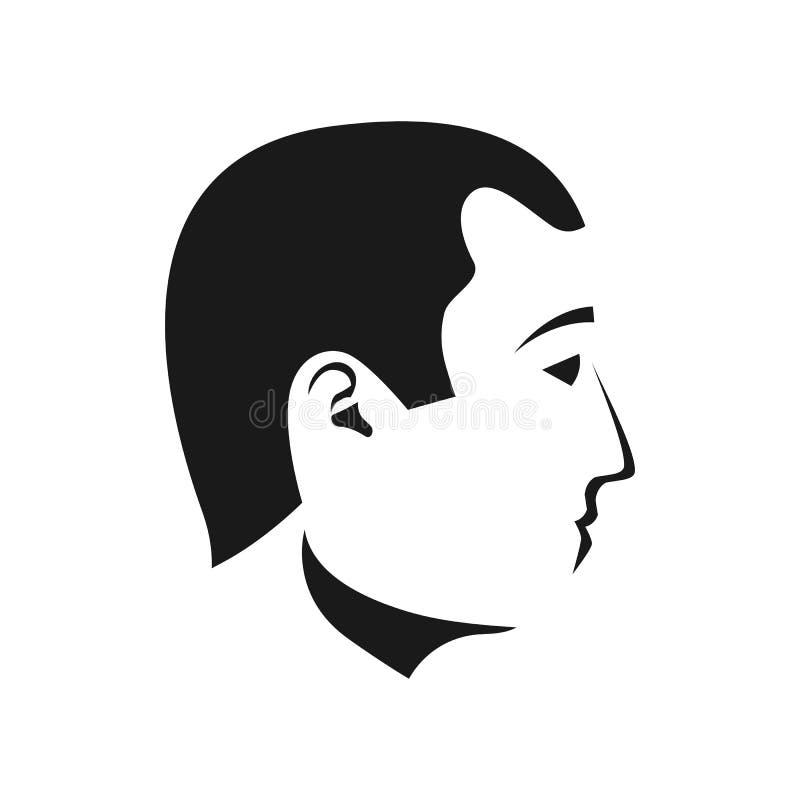 El hombre hace frente a perfiles stock de ilustración