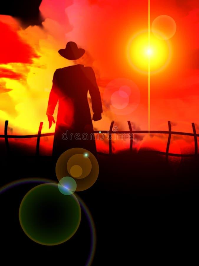 El hombre invisible 37 stock de ilustración