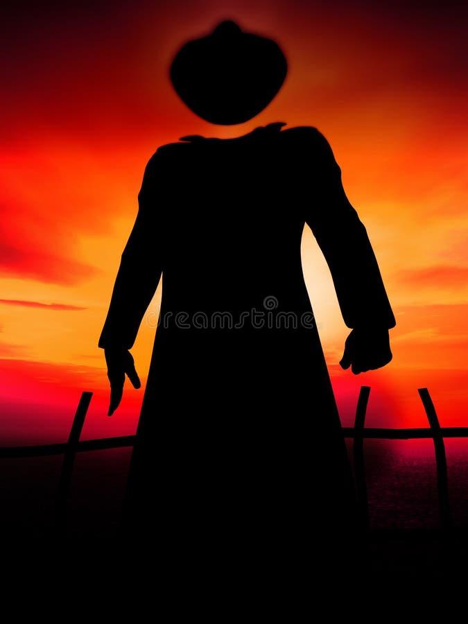 El hombre invisible 9 stock de ilustración