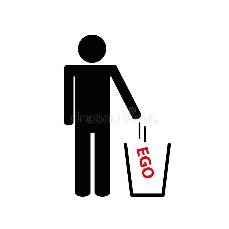 El hombre lanza el pictograma ausente del ego libre illustration
