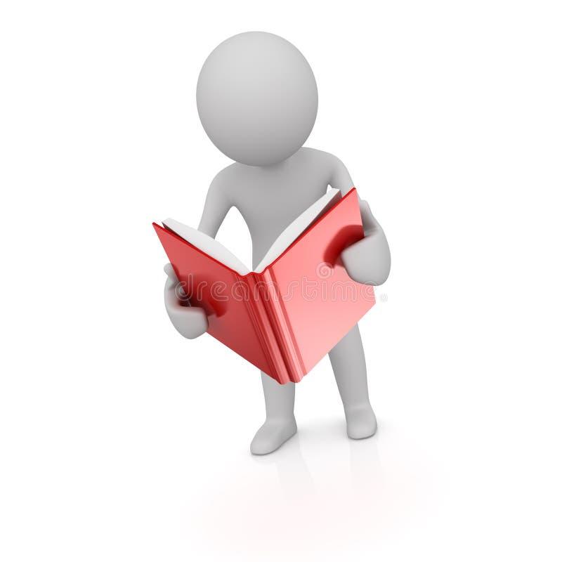 El hombre leyó el libro ilustración del vector