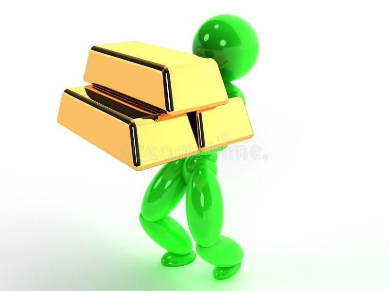 El hombre lleva las barras de oro #7 libre illustration