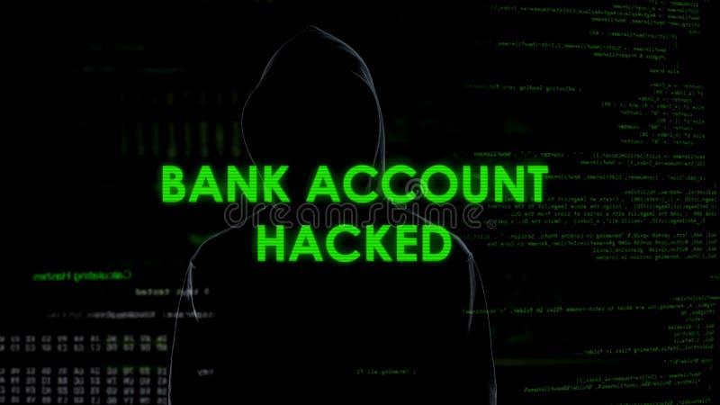 El hombre malvado del genio cortó la cuenta bancaria, transferencia de fondos ilegal, blanqueo de dinero imagenes de archivo