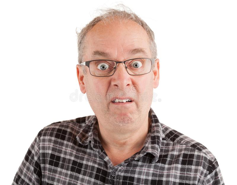 El hombre se queda pasmado sobre algo foto de archivo libre de regalías