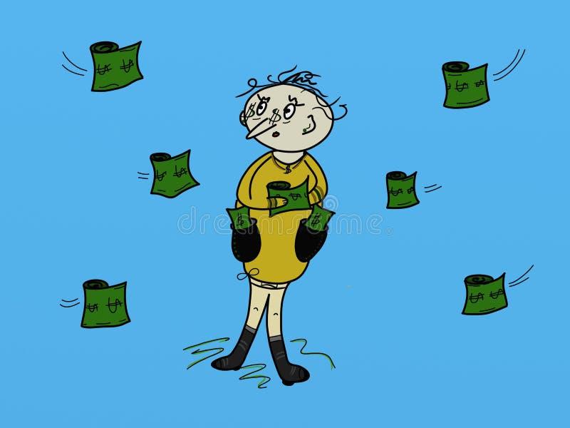 El hombre tiene dinero imagen de archivo libre de regalías