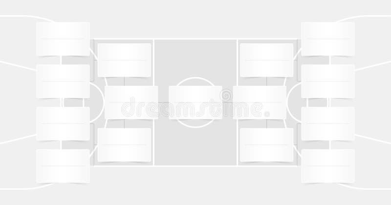El horario de las segundas fases de NBA - NBA acorcheta - los finales del baloncesto proyecta - color transparente ilustración del vector