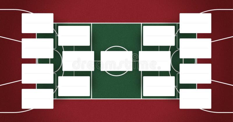 El horario de las segundas fases de NBA - NBA acorcheta - los finales del baloncesto proyecta - colores rojos y verdes ilustración del vector