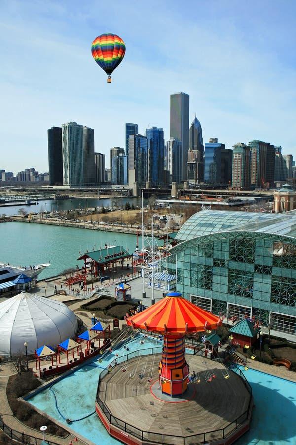 El horizonte de Chicago fotos de archivo