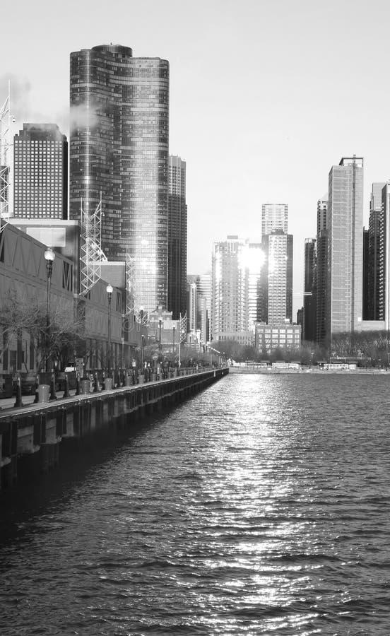 El horizonte de Chicago fotografía de archivo