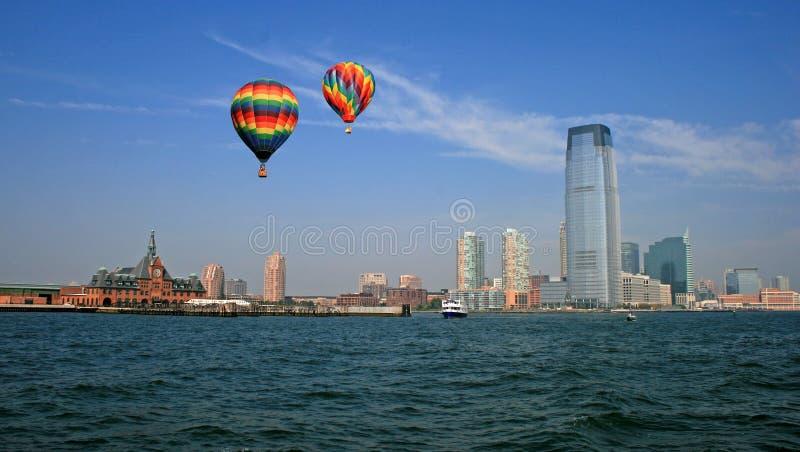El horizonte de la ciudad de Jersey foto de archivo