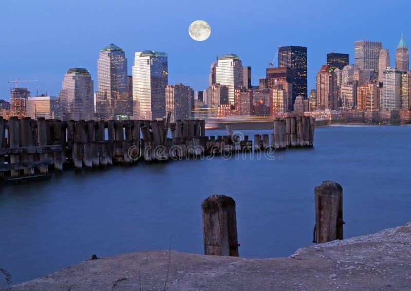 El horizonte de New York City imágenes de archivo libres de regalías