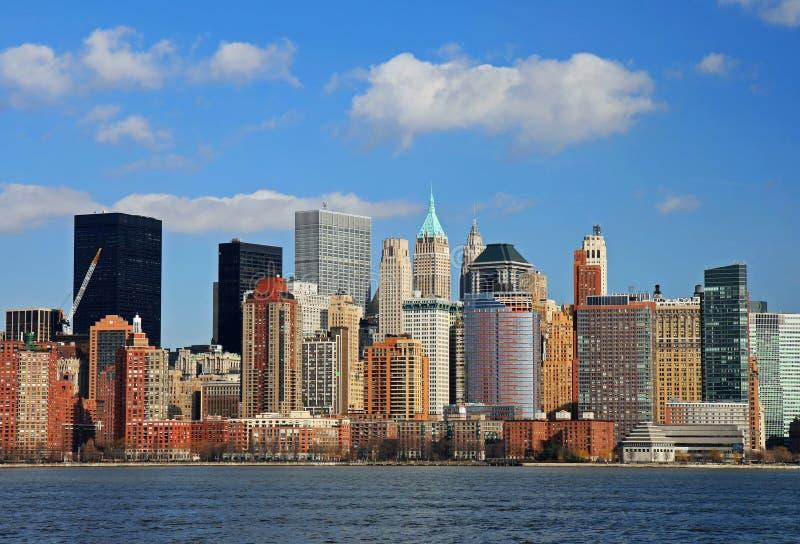 El horizonte del Lower Manhattan fotografía de archivo