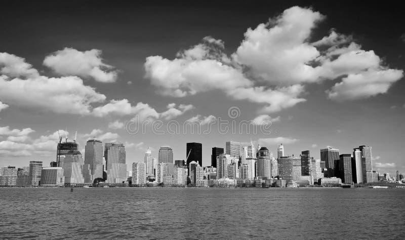El horizonte del Lower Manhattan fotos de archivo
