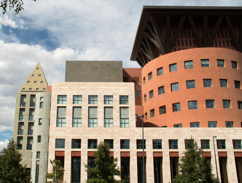 El horizonte emergente de Denver, Colorado fotografía de archivo libre de regalías