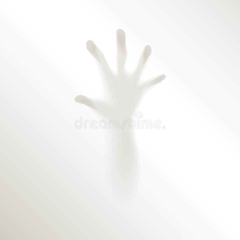 El horror misterioso borroso de la persecución de los fingeres espeluznantes de la mano teme la niebla de Halloween stock de ilustración