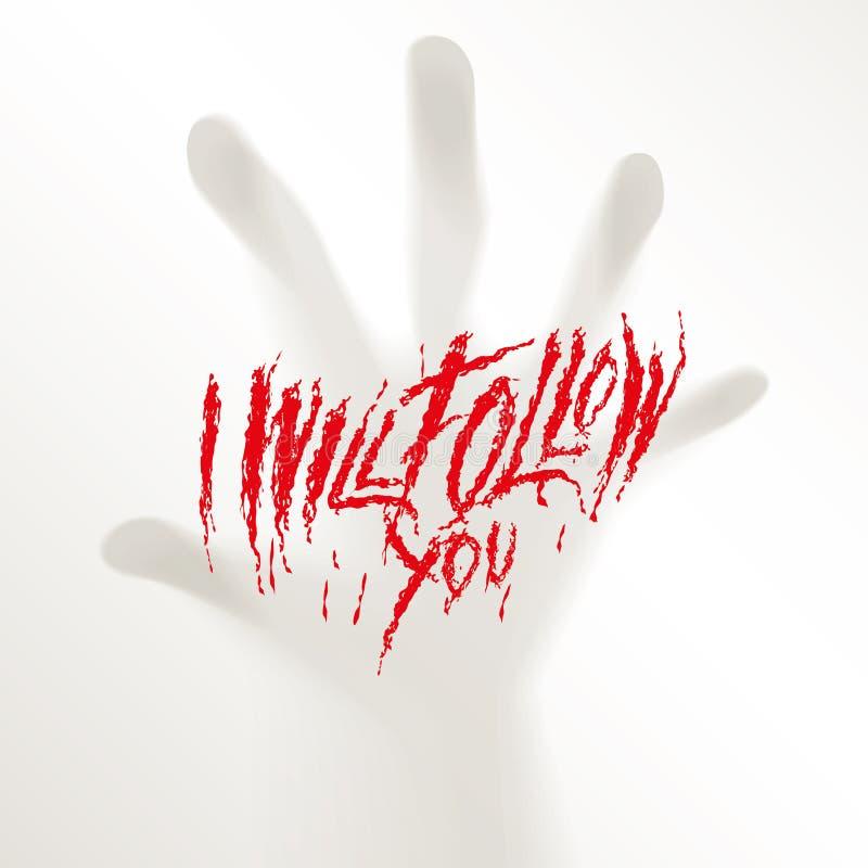 El horror misterioso borroso de la persecución de los fingeres espeluznantes de la mano teme la niebla de Halloween libre illustration