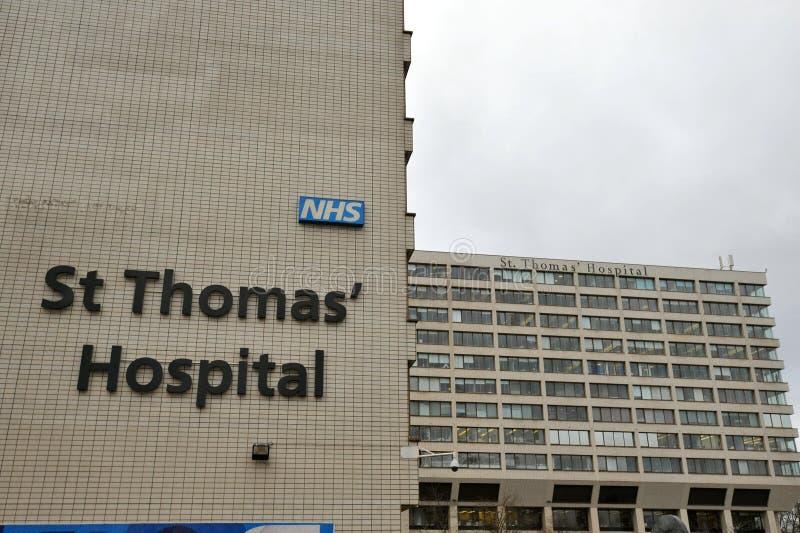 El Hospital St Thomas es un gran hospital de enseñanza del NHS en el centro de Londres, Inglaterra imagen de archivo
