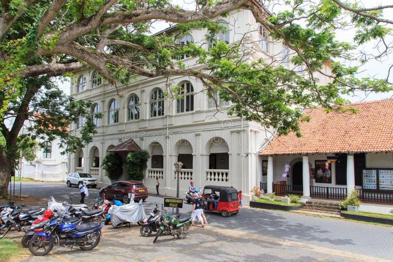 El hotel de Amangalla conocido formalmente como el nuevo hotel oriental - fuerte Galle - Sri Lanka fotografía de archivo libre de regalías