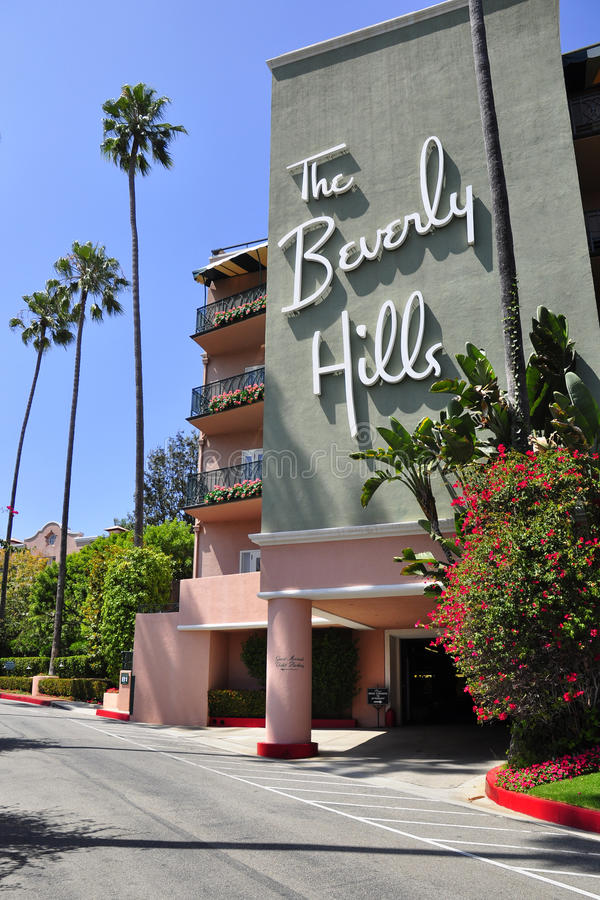 El hotel de Beverly Hills foto de archivo libre de regalías