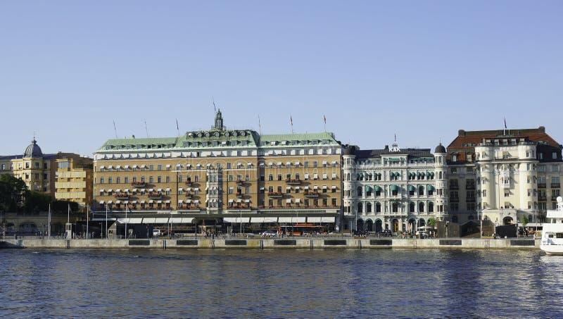 El hotel magnífico en Estocolmo fotos de archivo