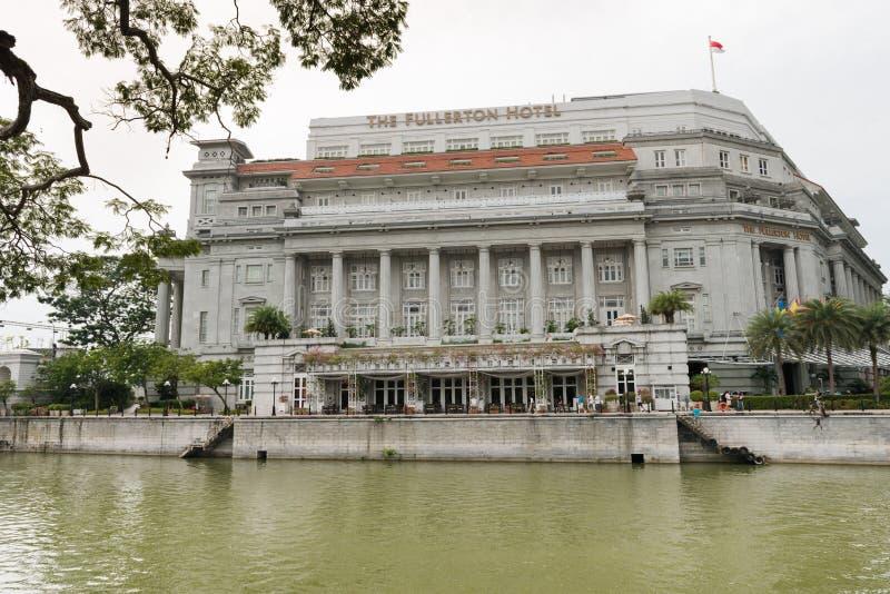 El hotel Singapur de Fullerton fotografía de archivo