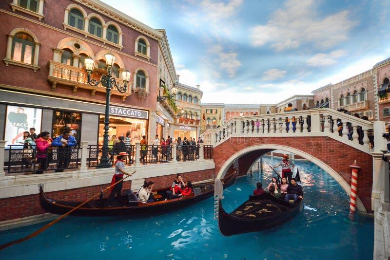 El hotel veneciano en Macao, China imagen de archivo libre de regalías