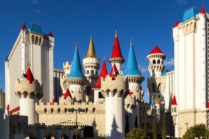El hotel y el casino - Las Vegas de Excalibur imagen de archivo