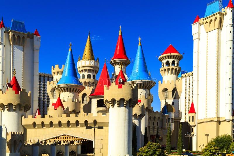 El hotel y el casino - Las Vegas de Excalibur imágenes de archivo libres de regalías