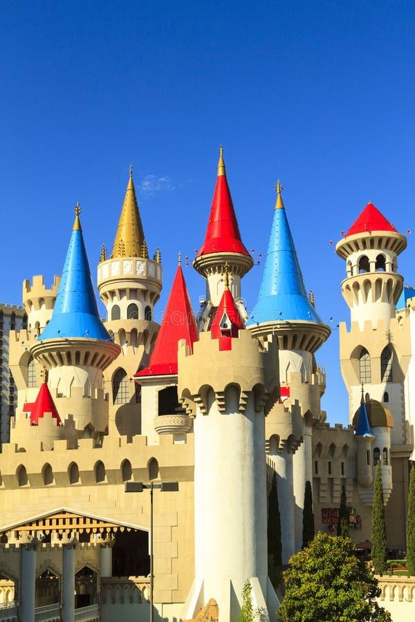 El hotel y el casino - Las Vegas de Excalibur imagenes de archivo