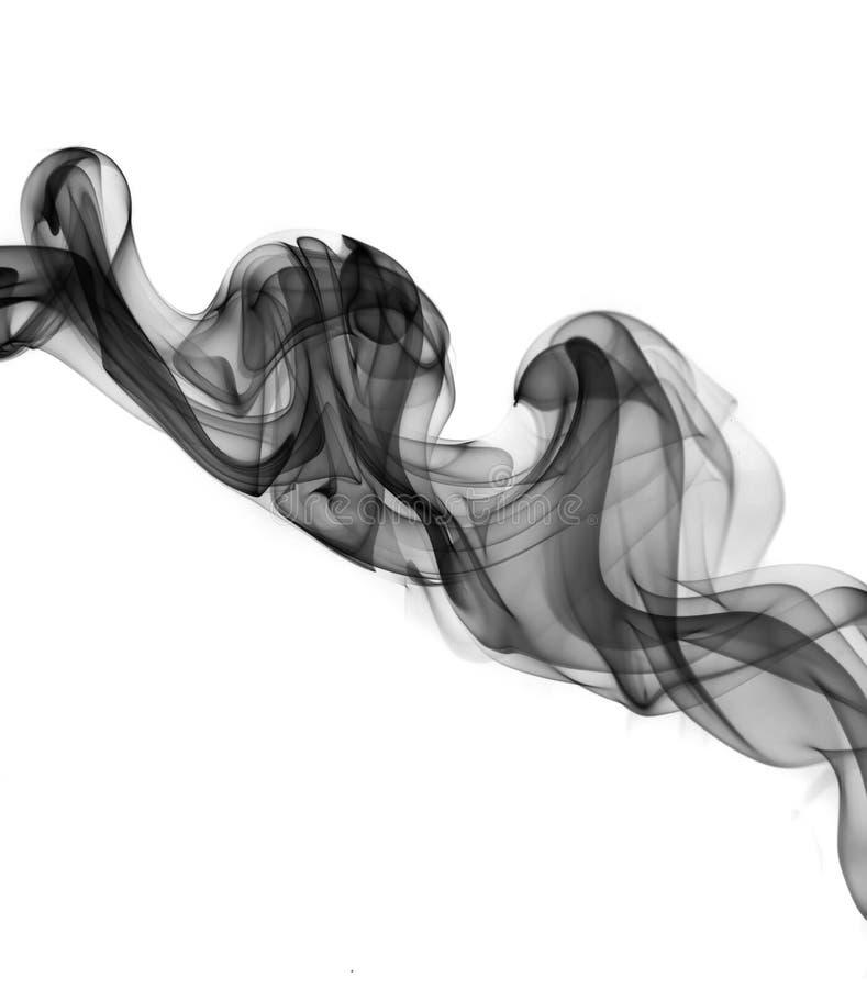 El humo abstracto agita sobre el blanco imagenes de archivo