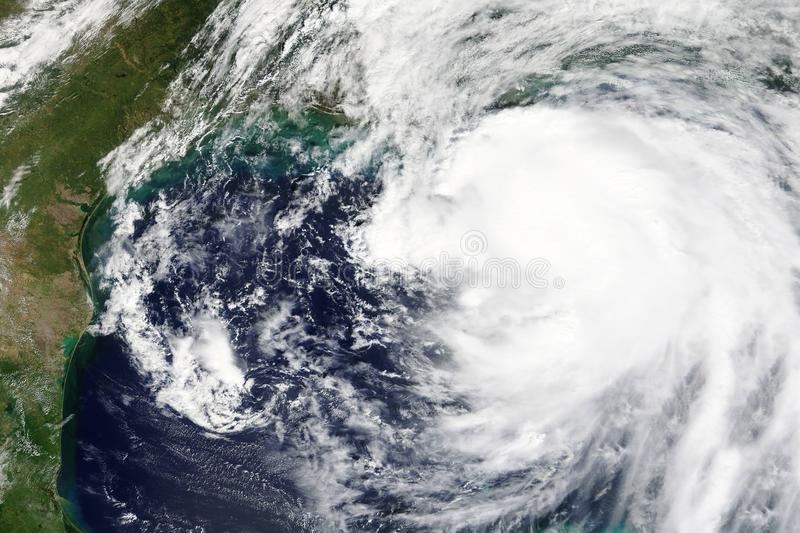 El huracán Nate está dirigiendo hacia New Orleans, elementos de Lousiana en octubre de 2017 - de esta imagen equipados por la NAS fotografía de archivo