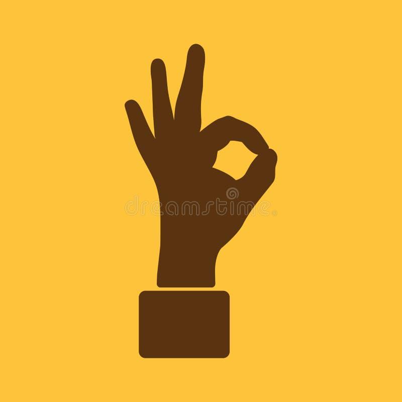 El icono ACEPTABLE Símbolo aceptable plano stock de ilustración