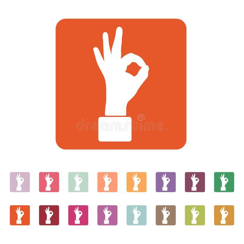 El icono ACEPTABLE Símbolo aceptable plano ilustración del vector
