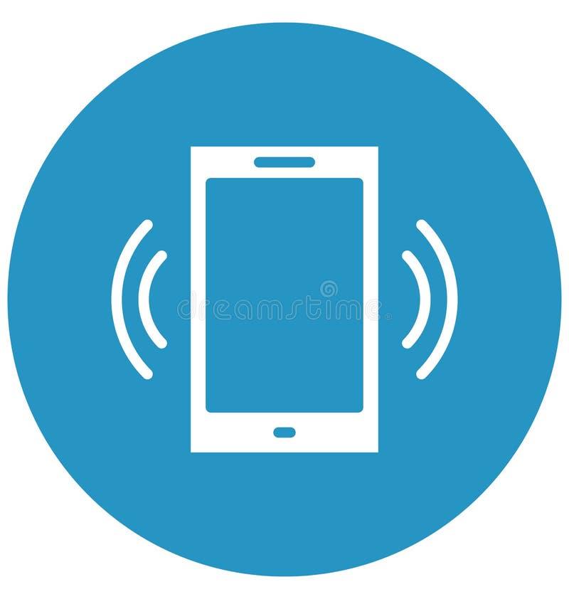 El icono aislado del vector del teléfono celular que puede modificar o corregir fácilmente el teléfono celular aisló el icono del stock de ilustración