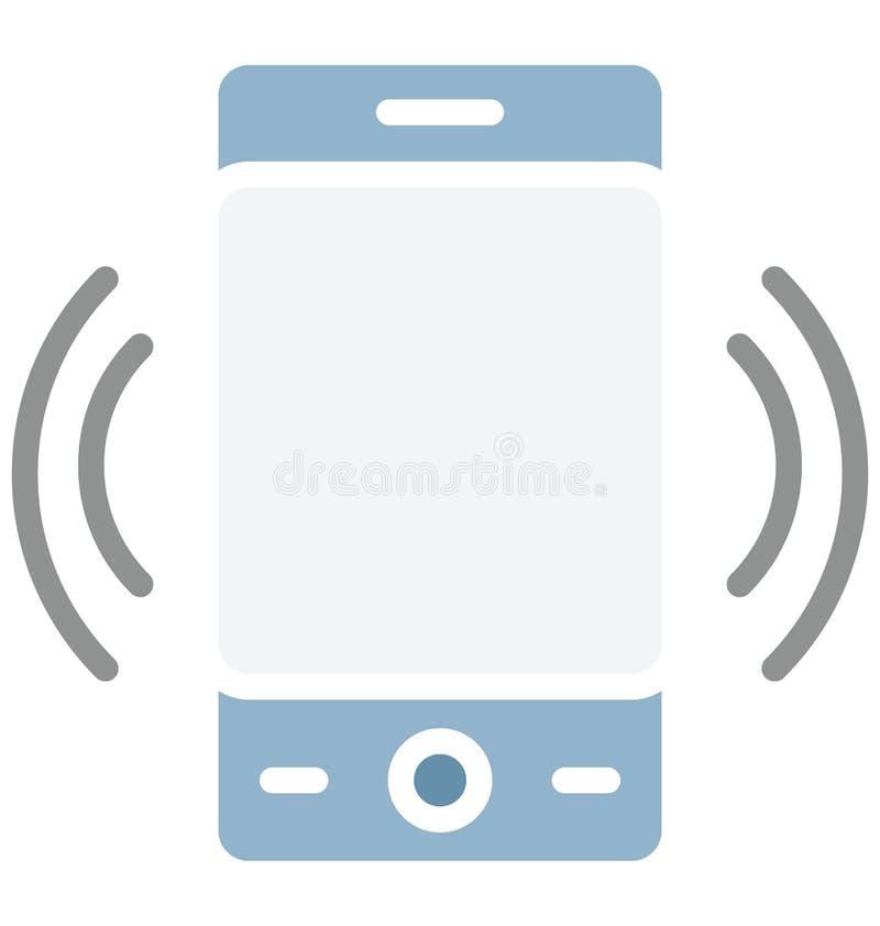 El icono aislado del vector del teléfono celular que puede modificar o corregir fácilmente el teléfono celular aisló el icono del ilustración del vector