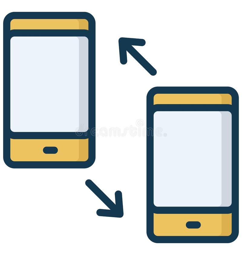 El icono aislado las llamadas marcado y recibido del vector que puede modificar o corregir f?cilmente llamadas marcadas y recibid ilustración del vector