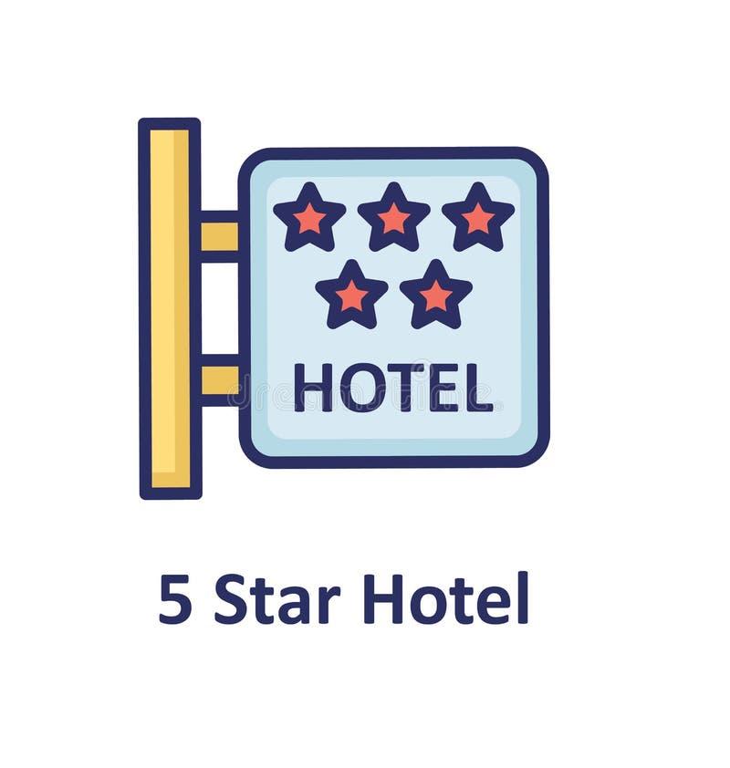 El icono aislado letrero del vector del hotel que puede modificar o corregir fácilmente el letrero del hotel aisló el icono del v libre illustration