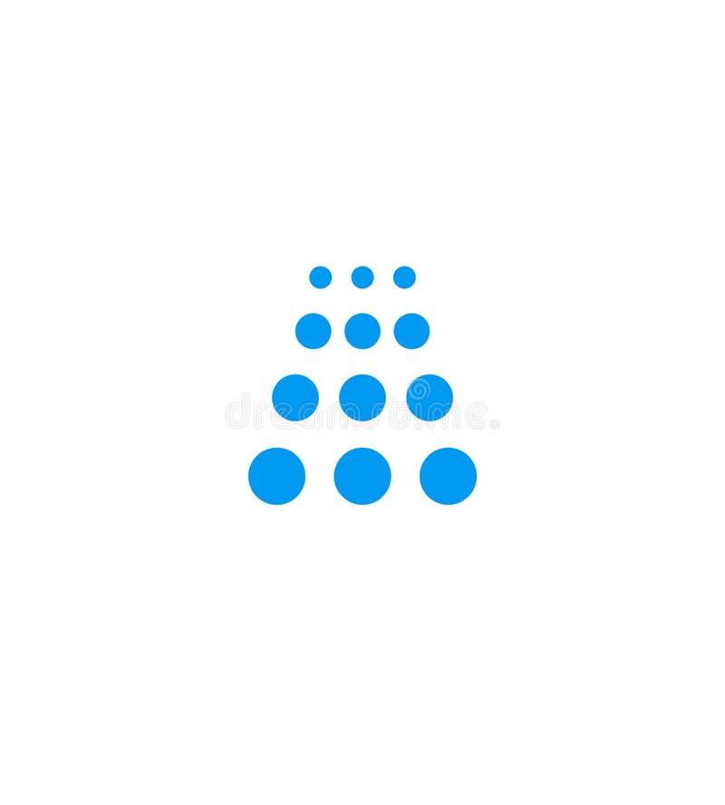 El icono azul del sitio de ducha, emblema de la cascada, plantilla del logotipo de la compañía del túnel de lavado, aisló el ejem ilustración del vector