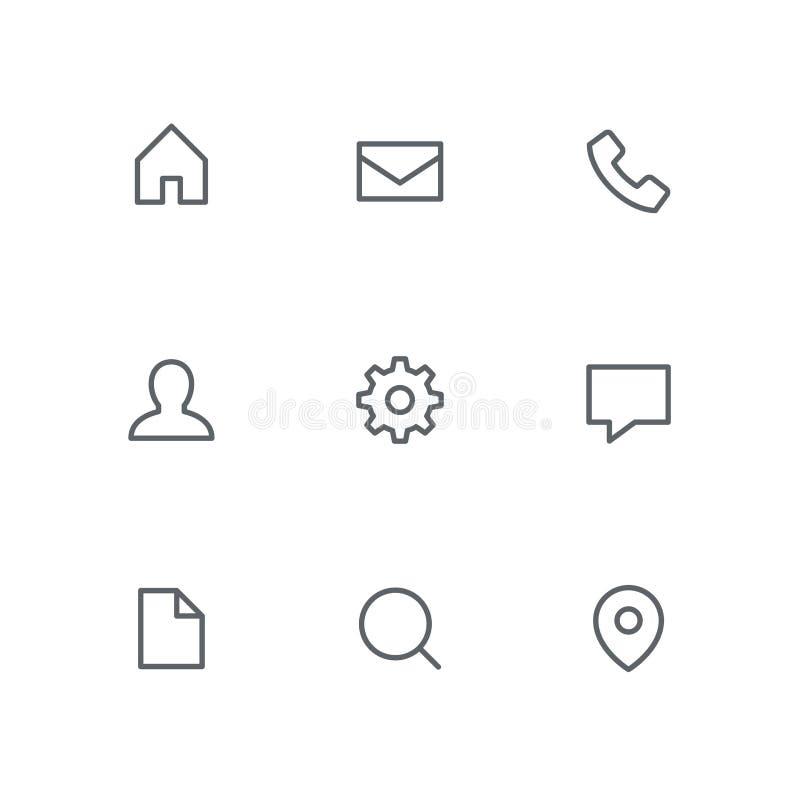 El icono básico del esquema fijó 11 libre illustration